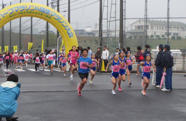かがみのハーフマラソン&健康マラソン大会 | 岡山県