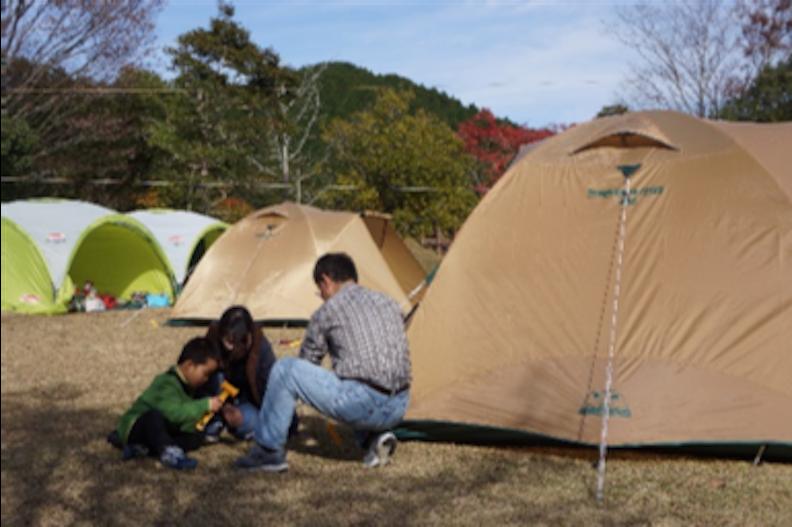 秋の宇目(大分県佐伯市)デイキャンプ