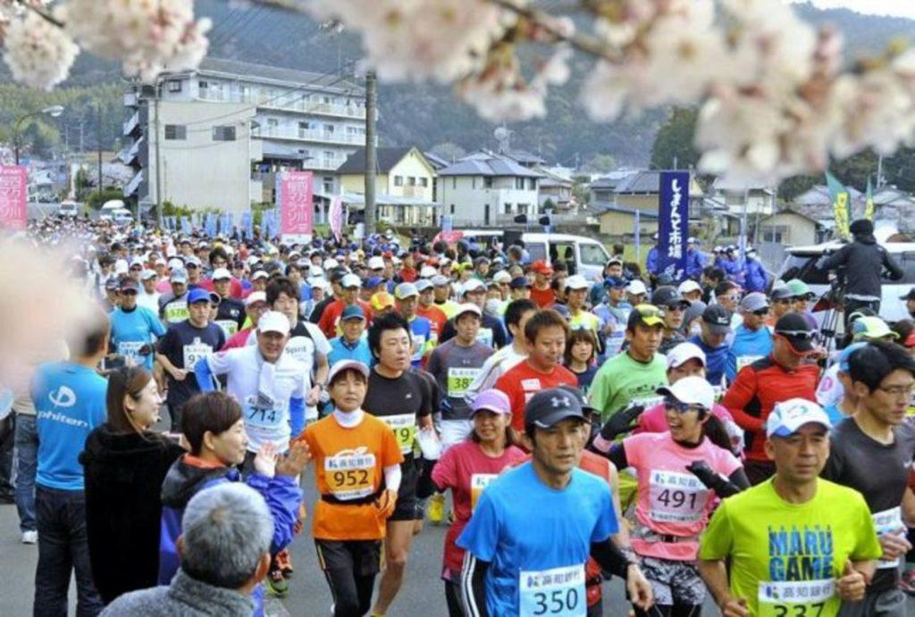 四万十川桜マラソン大会   高知県