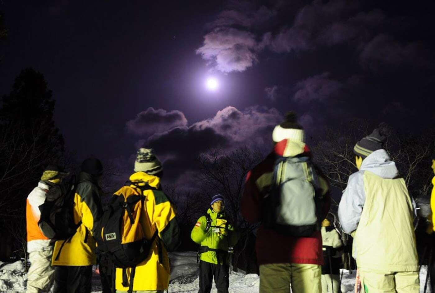雪上ナイトハイキング | 栃木県(光徳周辺の森)