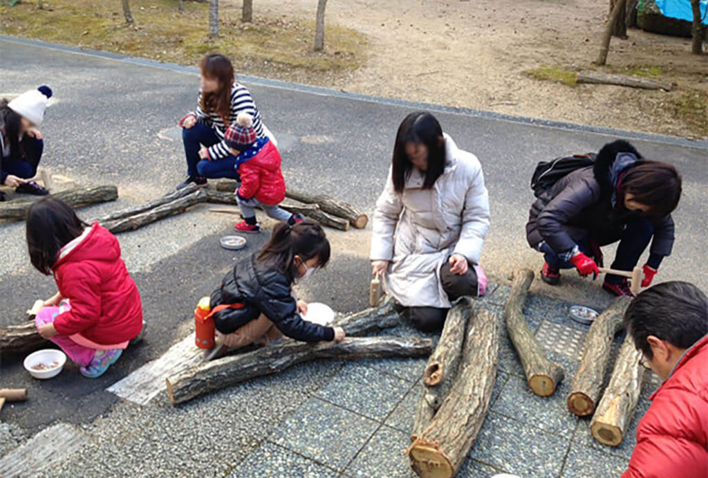 しいたけのほだ木作り教室   兵庫県