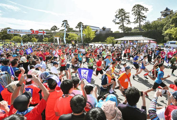 「利家とまつ」金沢城リレーマラソン | 石川(金沢城公園)