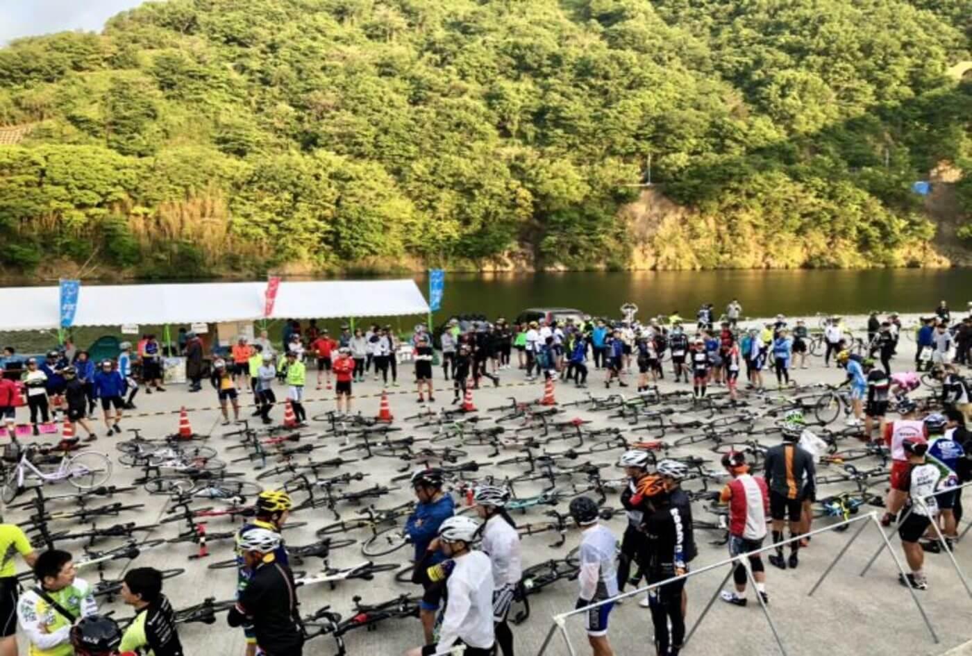 自転車王国とくしま ツール・ド・にし阿波2020   徳島(三好市池田湖水際公園)